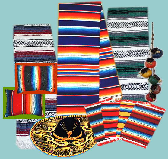Mexican Blankets Saltillo Blankets, Sarapes, Serapes, Placemats, Table  Runners