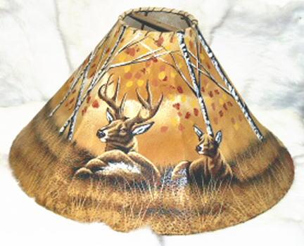 Painted rawhide lamp shades aloadofball Gallery