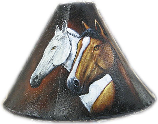 Painted rawhide lamp shades click to enlarge harley shade aloadofball Image collections