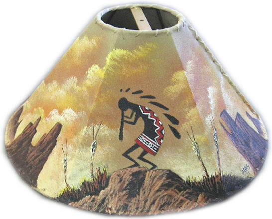 Painted rawhide lamp shades aloadofball Image collections