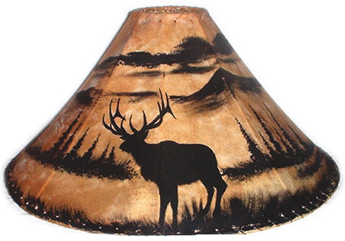 Silhouette western painted lamp shades mozeypictures Gallery