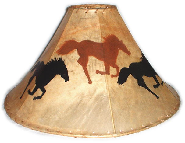 Silhouette western painted lamp shades aloadofball Image collections
