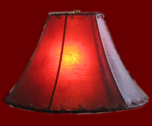 Rawhide lamp shades click to enlarge red and brown rawhide lamp shades aloadofball Gallery